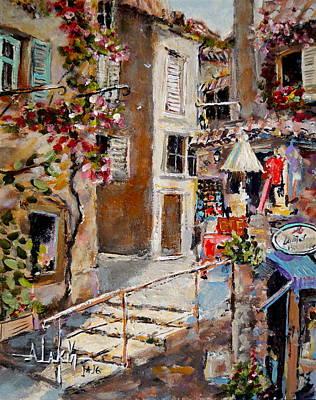 Shopping St Paul De Vence Original by Alan Lakin