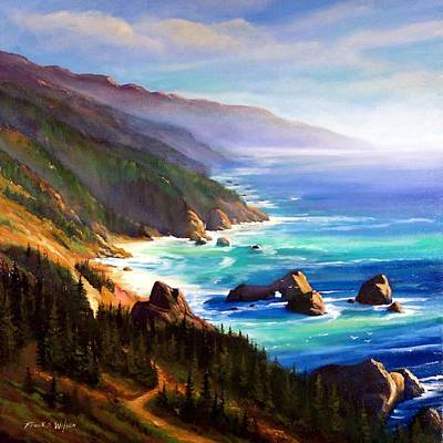 Fog Painting - Shore Trail by Frank Wilson