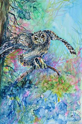 Short-eared Owl Original by Zaira Dzhaubaeva
