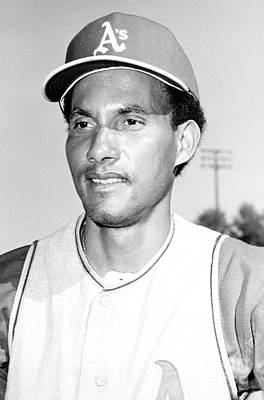 Shortstop Photograph - Shortstop Bert Campaneris Gets Suspended For The Remainder Of The American League Playoffs 1972 by William Jacobellis