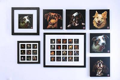 Dog Painting - Showcase Animal Art 2 by James Ahn