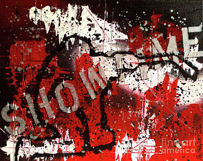 Blackhawk Painting - Showtime At The Madhouse by Melissa Goodrich