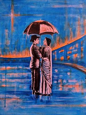 Indian Painting - Shree 420 by Usha Shantharam