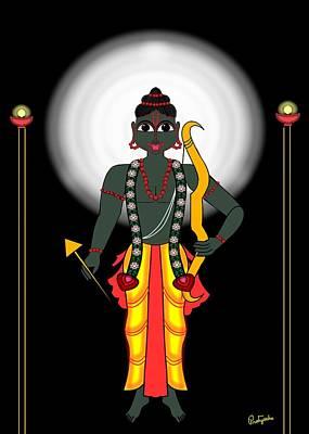 Shri Rama Print by Pratyasha Nithin
