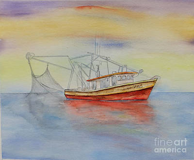 Painting - Shrimp Boat On Lake Pontchartrain by Catherine Wilson
