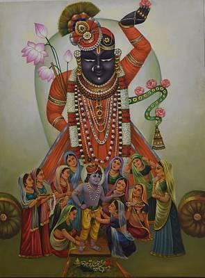Shri Krishna Painting - Shrinathji by Rajesh Dukaria