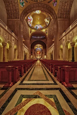 Shrine Of The Immaculate Conception Print by Susan Candelario