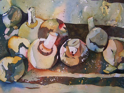 Shrooms Print by Sandy Collier