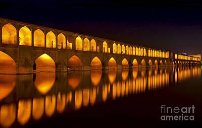 Photograph - Si O Seh Pol Bridge - Isfahan - Iran by Bryan Freeman