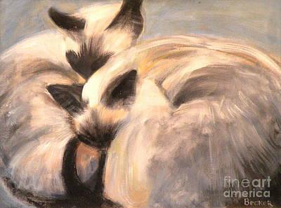 Siamese Lovers Print by Susan A Becker