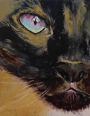 Siamese Print by Michael Creese