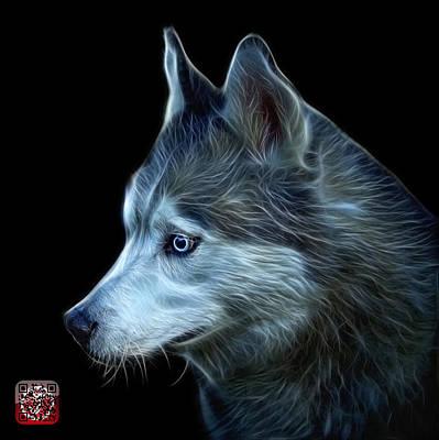 Dog Painting - Siberian Husky Art - 6048 - Bb by James Ahn