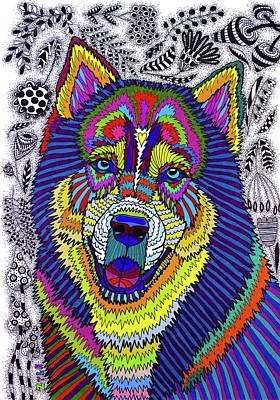 Siberian Husky Drawing - Siberian Husky by Pet Coloring Pages