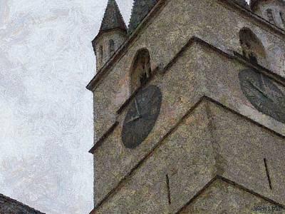 Sibiu Clock Tower Print by Jeff Kolker