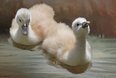 Siblings Print by Donna Kennedy