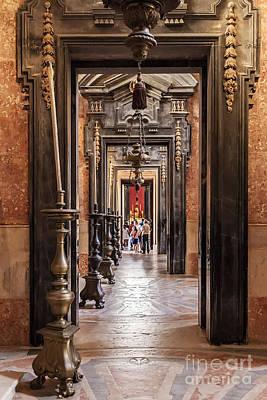Gate Photograph - Side Aisle Of The Basilica Of The Mafra by Jose Elias - Sofia Pereira