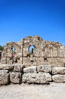 Roman Archaeology Photograph - Side Ancient Temple Ruins by Antony McAulay