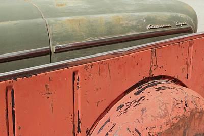 Side By Side Vintage Cars Print by Heidi Hermes