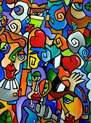 Colorful Abstract Drawing - Side Show by Tom Fedro - Fidostudio