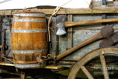 Side View Of A Covered Wagon Original by Linda Phelps