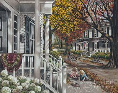 Sidewalk Chalk Artists Print by Carol Bonick