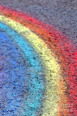 Graffiti Photograph - Sidewalk Rainbow  by Olivier Le Queinec