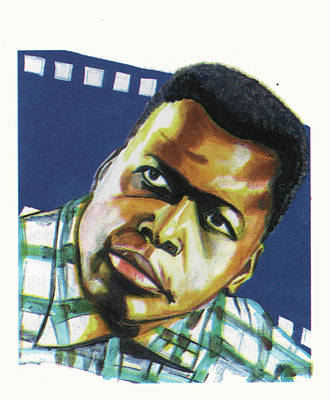 Sidney Poitier Print by Emmanuel Baliyanga