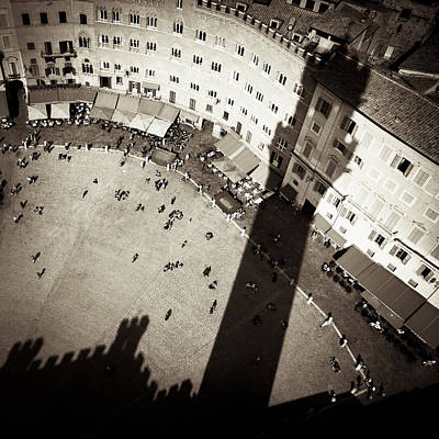 Town Square Photograph - Siena From Above by Dave Bowman