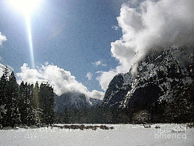 Yosemite National Park Mixed Media - Sierra Nevada Christmas by Claire Sweeney