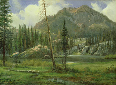 Sierra Nevada Mountains Print by Albert Bierstadt