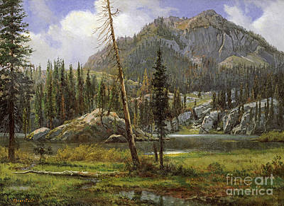 Southwest Drawing - Sierra Nevada Mountains by Celestial Images
