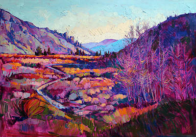 Backpacking Painting - Sierra Shadow by Erin Hanson
