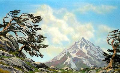Pacific Crest Trail Painting - Sierra Warriors by Frank Wilson