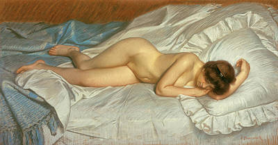 Bed Painting - Siesta by Frank Duveneck