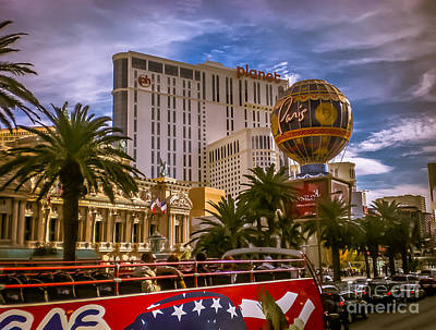 Color Photograph - Sightseeing In Las Vegas by Claudia M Photography