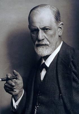Freud Photograph - Sigmund Freud 1856-1939 Smoking Cigar by Everett