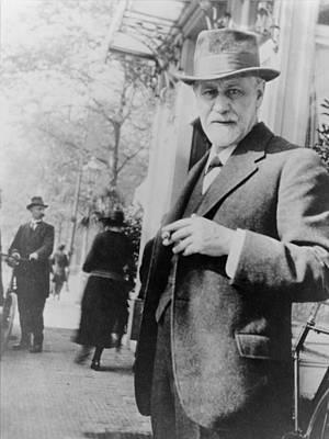Psychiatrist Photograph - Sigmund Freud 1856-1939, Standing by Everett