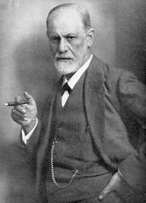 Freud Photograph - Sigmund Freud by English School