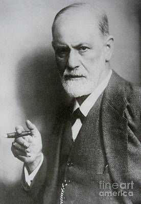 Psychiatry Painting - Sigmund Freud Psych  by Pd