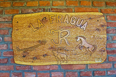 Fragua Photograph - Sign At La Fragua Ranch In Patagonia Near Bariloche-argentina by Ruth Hager