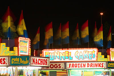 Signs Of Food At The Carnival Print by James BO  Insogna
