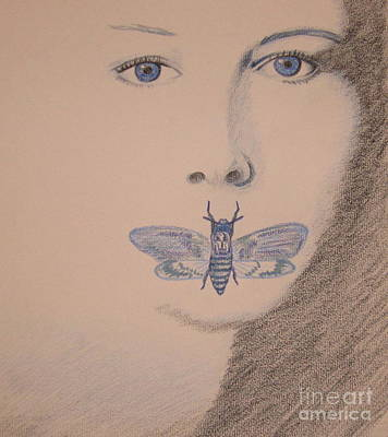 Starlings Drawing - Silence Of The Lambs by Kimberly Witz