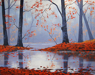 Foggy Painting - Silent Autumn by Graham Gercken