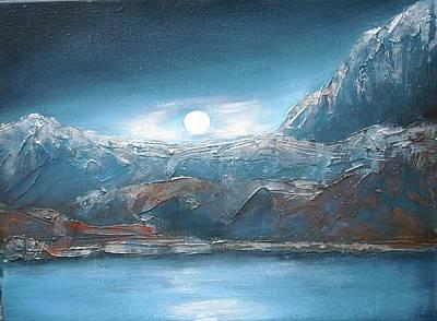 Silent Night In Silver Print by Anne Thomassen