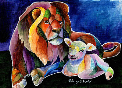 Silent Night Print by Sherry Shipley