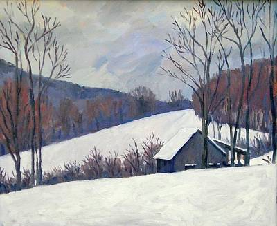 New England Snow Scene Painting - Silent Snow Berkshires by Thor Wickstrom