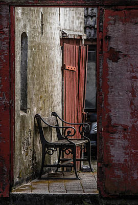 Framed Old Town Door Photograph - Silent Space by Odd Jeppesen