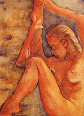 Nude Painting - Silent Stretch by Dan Earle