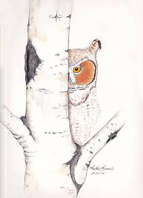 Silent Watcher Original by Heather Hinam