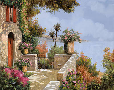 Red Art Painting - Silenzio by Guido Borelli